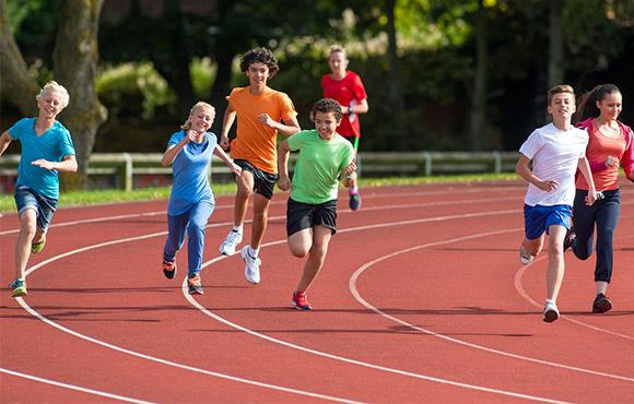 Löpning skadefria barn